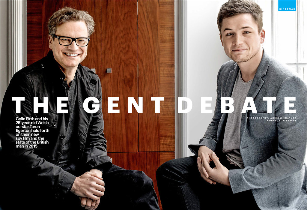 Colin Firth & Taron Egerton, Claridges, for Shortlist Magazine